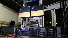 "DELL R710 II Server 2x X5677 3.4Ghz QUAD CORE *72GB**2 X 300gb 2.5"" SAS VMWARE 6"
