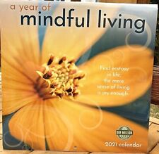 A Year of Mindful Living 2021 Wall Calendar Uplifting Tranquil Amber Lotus