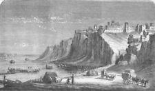 INDIA. Kalpi, on the Yamuna, antique print, 1859