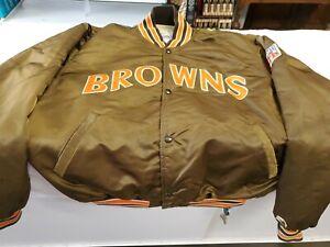 Cleveland Browns Satin Starter Jacket VINTAGE Pro Line Dawg Pound NFL size XL