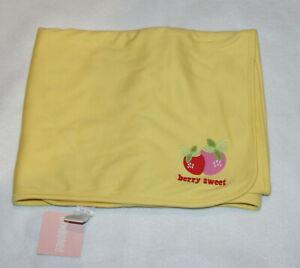 NWT GYMBOREE BERRY SWEET Fruit Print Baby Girl Blanket
