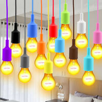 Hot Silicone E27 Home Ceiling Pendant Lamp Light Bulb Holder Hanging Colorful
