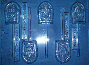 FIVE CLASSIC JUKE BOX SHAPES CHOCOLATE MOULD OR CHOCOLATE LOLLIPOP MOULD