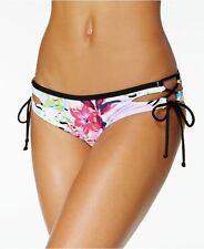 NEW BAR III Tropical Cutout Tie Sides Hipster Bikini Bottom L Large