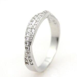 Angel Bijoux Bague 925 Sterling Silver Crystal Ring
