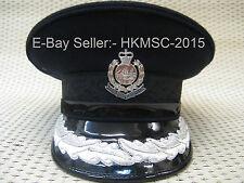 Obsolete British Colonial Era Royal Hong Kong Police ACP & SACP Visor Cap