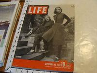 Vintage Life Magazine SEPT 13 1943: JOE LOUIS; ARTURO TOSCANINI; SIKH MAHARAJA