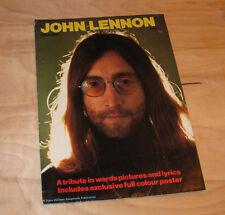 JOHN LENNON 1940-1980 UK Tribute Fold-Out POSTER Fanzine Booklet/Magazine