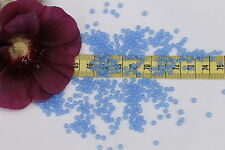 8/0 Vintage French Opal Pale Sapphire Seed Beads Crafts Jewelry Making/1oz