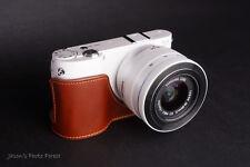 Handmade Genunie real Leather Half Camera Case Camera bag for Samsung NX1000
