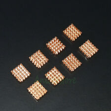 8pcs Copper Heatsink Adhesive Back For VGA GPU DDR DDR2 DDR3 RAM Memory Cooling