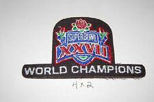 "Super Bowl XXVII (27) Dallas Cowboys World Champions 3 3/4"" logo Patch Football"