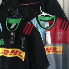 Lot of 2 Harlequins rugby jerseys Home+big game away,English Premier Rugby Large