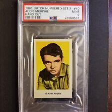 1961 Dutch Numbered Set 2 #40 AUDIE MURPHY Actor WORLD WAR II Army Hero PSA 9