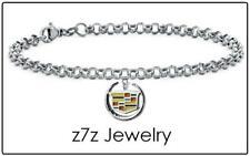 """CADILLAC 8"""" Charm Bracelet - car logo emblem caddie wrist chain jewelry z7qq"""
