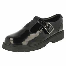 Girls Bootleg by Clarks Purley Go T-Bar School Shoes