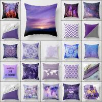 18'' purple Polyester pillow case sofa waist cushion cover Sofa Home Decor