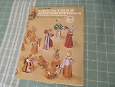 Make Your Own Christmas Decorations vintage booklet/magazine