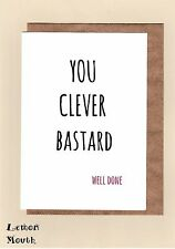 Greeting Card / Well Done / Graduation / Passed Exams / Uni  - Clever B