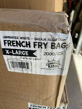 Carnival King French Fry Bags X Large Unprinted White Grease Resistant