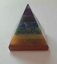 REIKI énergie Chargé Sept Cristal Chakra Bonded Pyramid Healing Crystal UK