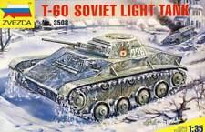 Zvezda T-60 Soviet Lumière Citerne Russe facilitateur Réservoir 1:35 modèle-kit