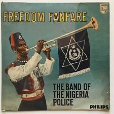 """BAND OF THE NIGERIA POLICE Freedom Fanfare Philips Netherlands 10"""" LP"""