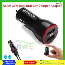 Anker 24W Dual USB Car Charger Adapter, PowerDrive 2 compatible with iPhone iPad