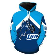New Detroit Lions 3D Print Hoodie Men Sweatshirt Pullover Cosplay Jacket Coat
