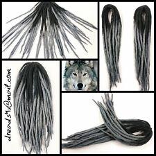 "wool dreadlocks "" Grey Wolf"" 10 pieces"