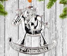 Christmas 2019 Ceramic Baby's 1st Rocking Horse Tree Decoration Ornament