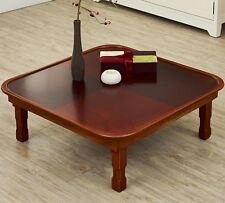 Floor Table Round Traditional Japanese Style coffee Tea Tatami Low Folding