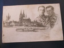Military postcard - Men in uniform and London (Unposted)
