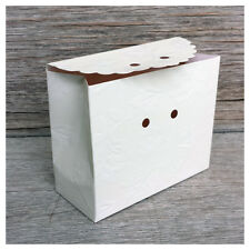 White Pouch Favor Boxes, Packages of 10
