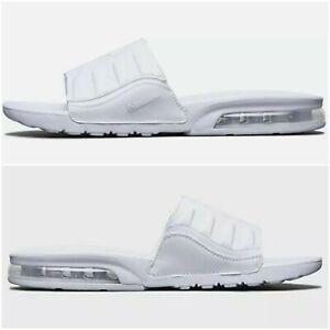 🔥Nike Air Max Camden Sandals Slides Triple White size 11  BQ4626-100 Men's