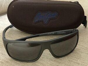 Maui Jim MJ-237-118 Island Time Men's Sunglasses 64-17-129 Steel Gray Polarized