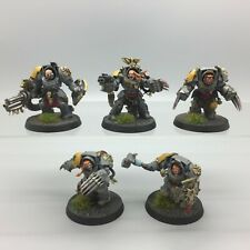 WARHAMMER 40,000 SPACE WOLVES WOLF GUARD TERMINATOR SQUAD PAINTED KILL TEAM
