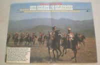 klein Plakat ,DER SCHATZ IM SILBERSEE , Pierre Brice, Lex Barker, KARL MAY,DDR