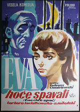 EWA CHCE SPAC aka EVA WANTS TO SLEEP Polish Chmielewski 1958 YUGO MOVIE POSTER