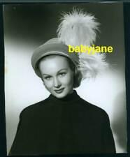 VIRGINIA MAYO VINTAGE 7X9 PHOTO BY SIX 1949 GIRL FROM JONES BEACH HAT FASHION #1