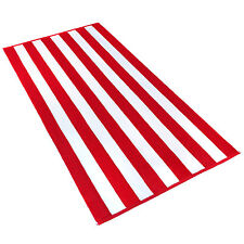 KAUFMAN - 32in x 62in Velour Cabana Stripe Towels (Red/White) 104575