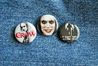 "The Crow Movie Buttons Pins Badge 1"" pinback Brandon Lee Eric Draven"