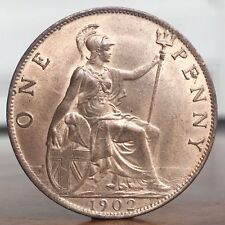 1902 Edward VII BARE HEAD PENNY SPINK 3990 aUNC Cc1