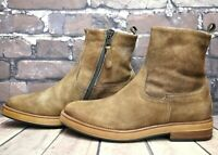 Womens MJUS Brown Leather Zip Up Low Heel Ankle Boots UK 5 EUR 38 RRP - £79