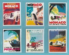 SPORTING PROFILES - SET OF L15 MOTOR RACING CARDS  -  MONACO  POSTERS  -  2007