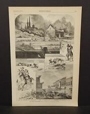 Harper's Weekly 1Pg Sketches from Smoking City Pittsburg  1873 B7#90