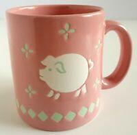 Waechtersbach Pink Pig West Germany Coffee Cup Mug