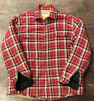 Wrangler Red Plaid Fleece Lined Shirt Large