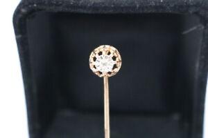 585.Gold Diamant Anstecknadel Österreich Ungarn 0,10 ct. um 1880