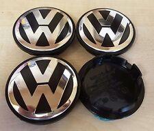VOLKSWAGEN 65mm Aleación Rueda Centro Tapas x4 se adapta a la mayoría de VW